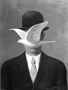 "museumuesum: "" Rene Magritte Man in a Bowler Hat, 1964 oil on canvas "" Rene Magritte, Tachisme, Surreal Art, Art Plastique, Famous Artists, Love Art, Oeuvre D'art, Art History, Renoir"
