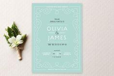 REVEL: Romantic Teal Wedding Invitation