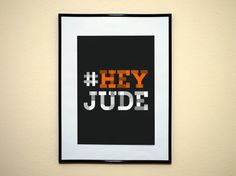 Hashtag Hey Jude The Beatles Instagram Style by EverythingHashtag, $8.99