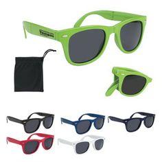 Folding Malibu Sunglasses - Folding sunglasses made of polycarbonate material.