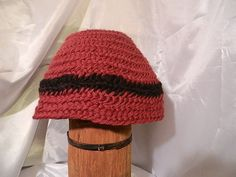 Viking Norse Anglo Saxon Nalbinding hat deep red by Micheleshats