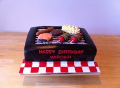 BBQ Grill Birthday Cake By CakeMachine on CakeCentral.com