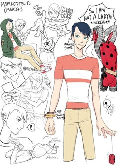 ♡ Miraculous Ladybug ♡ Marinette genderbent, this one might be my favorite version so far. Comics Ladybug, Ladybug Y Cat Noir, Miraclous Ladybug, Lady Bug, Catty Noir, Comic Manga, Adrien Y Marinette, Miraculous Ladybug Memes, Gender Swap