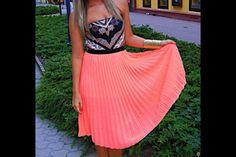 Aztec coral summer dress