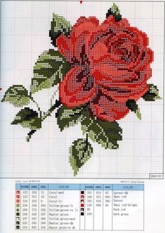 Cross-stitch Large Red Rose, part 2...    Gallery.ru / Фото #36 - 201 - markisa81 SAVED