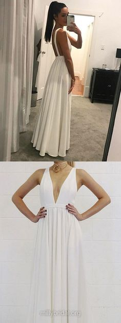 prom-dress-plus-size-simple-a-line-v-neck-floor-length-backless-white-long-prom-dresses-white-v-neck-formal-dresses-white-graduation-dresses-evening-dresses-briarpatch-bridal/ SULTANGAZI SEARCH Senior Prom Dresses, Prom Dresses For Teens, Prom Dresses 2018, Prom Dresses Online, Cheap Prom Dresses, Formal Evening Dresses, Graduation Dresses, Backless Dresses, Party Dresses