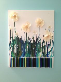 Crayon art-i like the idea of making it part of art involving other mediums