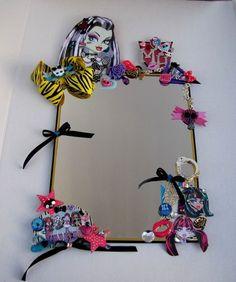 Girls Monster High Bed/Bathroom Decorative Wall Mirror Home Teens Room Decor #Handmade #KidsMonsterHigh
