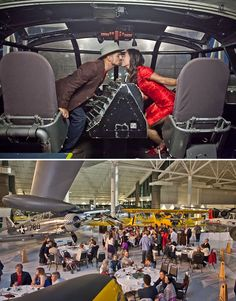 Love the idea of a rehearsal dinner at an aviation museum!!!