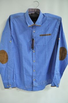 Koszula Męska 819B La Mardo (M-3XL) slim