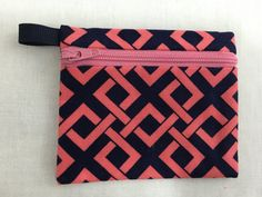 Mod Weave Zipper Coin Purse, Credit Card, Earbud, iPod Pouch by NancyPKdesigns on Etsy