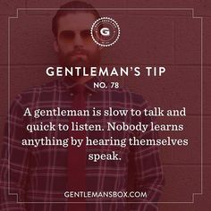 Some sound fatherly advice in honor of this month's box theme #GentlemansBox…