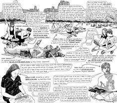 """""""The Books We Read Outdoors"""" by Amy Goldwasser and Peter Arkle. Published June 3, 2011 in the New York Times."""