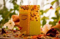 Centre de table bougie fleur bougie Folk Art bougie par GiftForFire