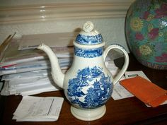 Very Rare Leeds Pearlware Coffee Pot of tiny Proportions Perfect Condition !!!