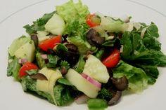 Mega Greek Salad - Classic salad recipe that never disappoints. www.ultimatedanielfast.com