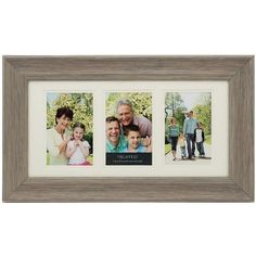 "Melannco 3-Opening 4"" x 6"" Double Matted Collage Frame ($28) ❤ liked on Polyvore featuring home, home decor, frames, grey, grey picture frames, 3 opening frames, grey home decor, colored picture frames and 4x6 frames"