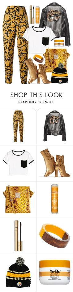 """""""29.10.16"""" by malenafashion27 ❤ liked on Polyvore featuring Versace, Gucci, WithChic, Gianvito Rossi, Dolce&Gabbana, Dorothy Perkins, '47 Brand and Yu-Be"""