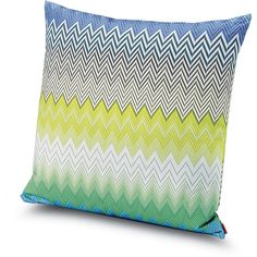 Missoni Home Sabaudia Cushion - 170 - 60x60cm (400 CAD) ❤ liked on Polyvore featuring home, home decor, throw pillows, multi, chevron home decor, chevron throw pillows and missoni home