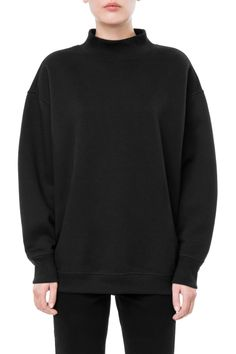 Weekday Chan Sweatshirt in Black