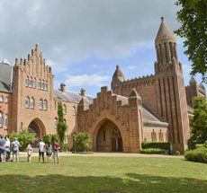 The grand sight of Quarr Abbey is one of the first things on the Isle of Wight to greet visitors on the Portsmouth to Fishbourne ferry, however it still remains one of the Island's hidden gems. Isle Of Wight, Holiday Activities, Portsmouth, Barcelona Cathedral, Attraction, Coast, Old Things, Gems, Island