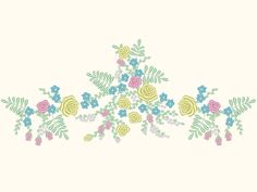 Cinderella Inspired Flowers Floral Skirt Hem Design Embroidery Machine Design by OCDEmbroidery on Etsy