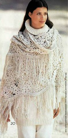Crochet - Häkeln - Scialle di pizzo - lace shawl with instructions - Spitzenschal (mit Anleitung)