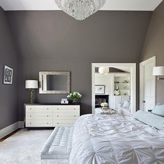 Wall Colour :: Benjamin Moore - Sparrow :: Clean Design