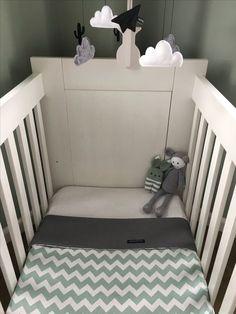 Wagendeken- Wiegdeken - Ledikantdeken ZIGZAG aan twee zijden te gebruiken - Muffie & Snuffie - wafelstof - babykamer - kinderkamer - handgemaakt - zwanger - baby - kraamkado
