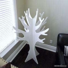 Coat Rack Tree Coat Rack Hat Rack Danish Modern Floor Standing Coat Tree. via Etsy.