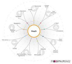 peach Food Pairing, Food Science, Fine Dining, Raspberry, Food And Drink, Peach, Pairs, Stuffed Peppers, Chicken