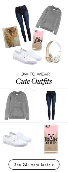 """""""Casual Outfit"""" by mackz360 on Polyvore featuring Vans, Zoe Karssen, Beats by Dr. Dre, Casetify, women's clothing, women's fashion, women, female, woman and misses"""