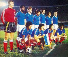 Equipos de fútbol: SELECCIÓN DE FRANCIA contra Brasil 30/06/1977