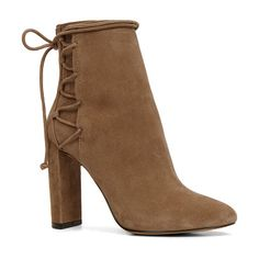 Taessa by ALDO. A boho twist on the season's favorite bootie. For the maximalist who just can't get enough laces. Gender: womens; Color: Taupe; Category: Women > Clearance > Footwear > Boots #aldo #nudeshoes
