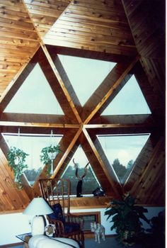 Triangle window skylight photos in dome homes