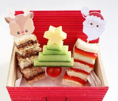 Childrens Lunchbox Ideas, School Christmas Party, Easy Party Food, High Tea, Bento Box, Lunch Box, Christmas Appetizers, Holiday Parties, Finger Foods