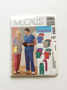 McCall's 3253 Uniform Essentials Pattern Nurse Doctor Scrubs Pattern at Donna Designed