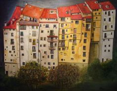 Home Art, Perspective, Spain, Houses, City, Holiday Decor, Painting, Ideas, Home Decor