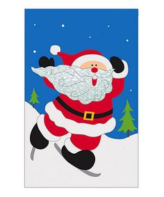 Take a look at this Santa Ice Capades Garden Flag by Evergreen on #zulily today!
