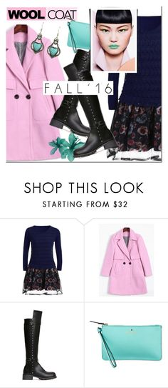 """Wool coat"" by mada-malureanu ❤ liked on Polyvore featuring Kate Spade, dresslily and woolcoat"
