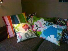 Sohvatyynyjen uusi ilme. Kankaat Ikea.