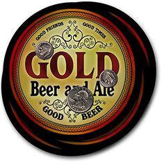 Gold Beer & Ale - 4 pack Drink Coasters ZuWEE…