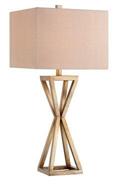 { geometric hourglass lamp }