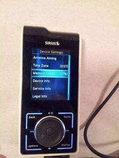 Sirius SL100 Satellite Radio Receiver Battery & Cord TESTED! Lots of songs! #Sirius
