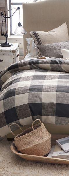 Farm house Cozy Bedroom | Buffalo Check Duvet Cover
