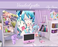 Vocaloid and manga poster set - BY NANA •  if I use your drawing or painting is that you do not want to see this in the sims 4 please told me, i'll simply remove ! please don't be aggressive