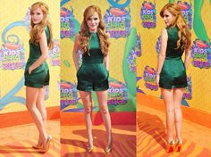 Bella Thorne wears this Green Playsuit from the Valentino Spring 2014 Collection at the Nickelodeon Kids Choice awards