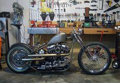 Harley Sportster Bobber by 'Hook'.