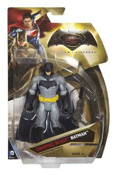 """Amazon.com: Batman v Superman: Dawn of Justice Grapnel Blast Batman 6"""" Figure: Toys & Games"""