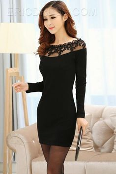 sexy black short dress,lady's cheap black dress online